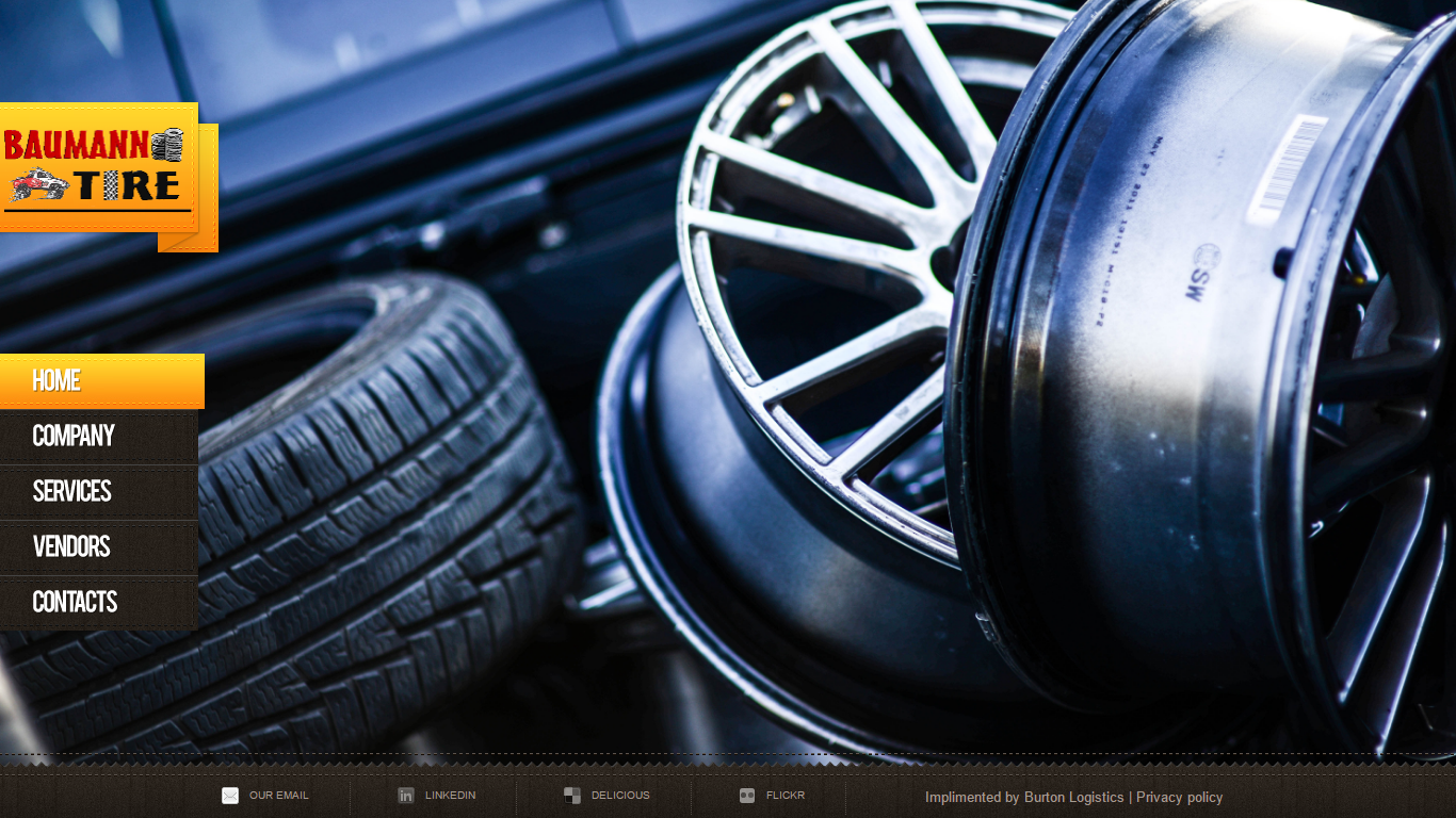 Website created for a tire shop in Illinois.